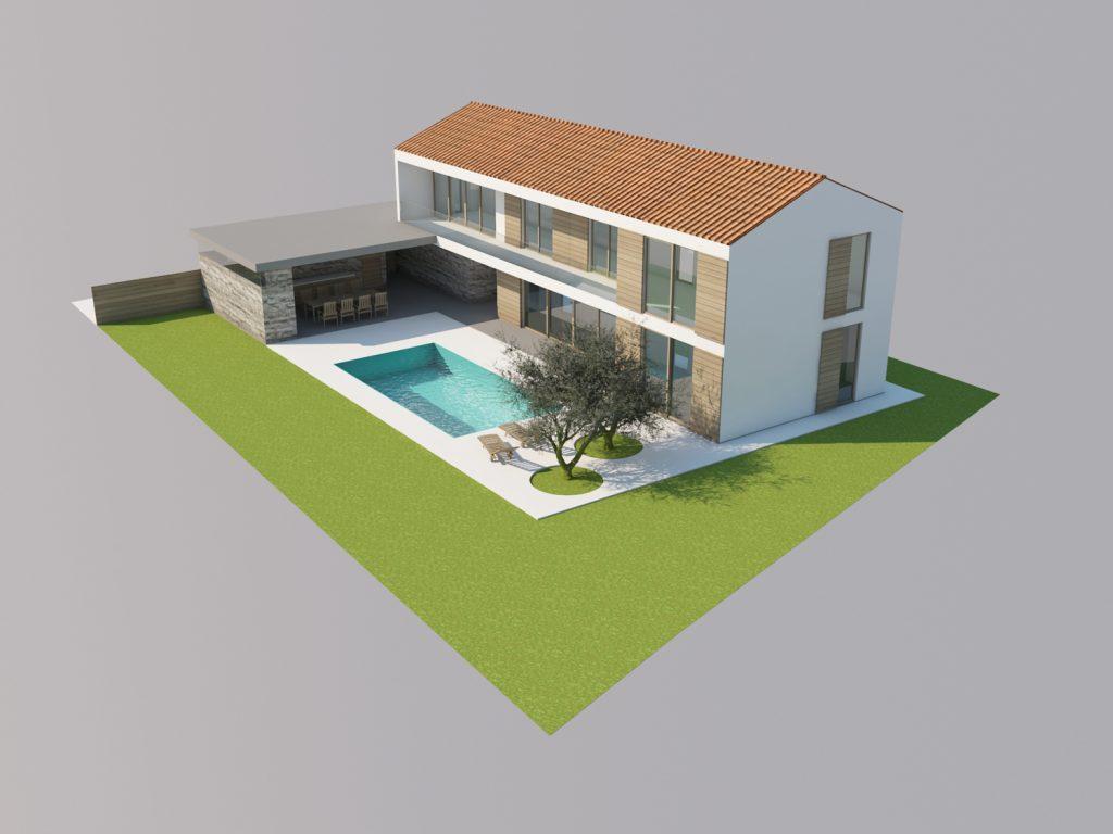 Hiša L, arhitektura in notranja oprema